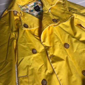 GAP bright yellow trench coat